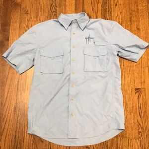 Guy Harvey button down fishing small blue